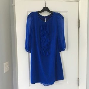 Tibi cobalt blue mini dress